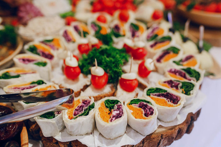 Wedding food and catering